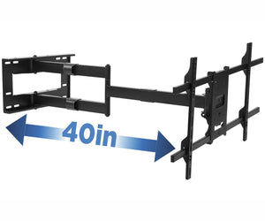 Mount- It!  - Articulating TV Wall Mount with Extra Long Extension MI-372 - myergodesk