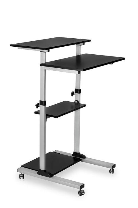 Mount-it! - MI-7940 Height Adjustable Rolling Stand up Desk - myergodesk