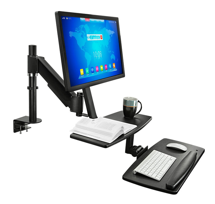 Mount-It - Sit-Stand Desk Mount for Single Monitors - MI-7901 - myergodesk