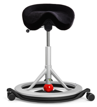 Load image into Gallery viewer, Active Seating - BackApp Smart Chair With Black Wheels