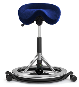 Active Seating - BackApp Smart Chair With Black Wheels
