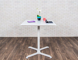 Conference Standing Desk - Luxor - LX-PNADJ-SQ Pneumatic Height Adjustable Café Table