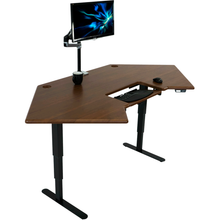 Load image into Gallery viewer, iMovR - Cascade Corner Standing Desk with SteadyType - myergodesk