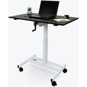 "Luxor - 40"" Single-Column Crank Stand Up Desk - myergodesk"