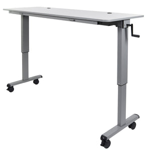 Luxor - 72″ Adjustable Flip Top Table, Crank Handle - myergodesk