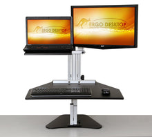 Load image into Gallery viewer, Ergo Desktop - Kangaroo Duo Hybrid - myergodesk