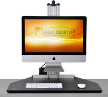Load image into Gallery viewer, Ergo Desktop - Kangaroo Single Electric myMac Pro for Apple iMac - myergodesk