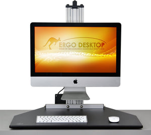 Ergo Desktop - Kangaroo Single Electric myMac Pro for Apple iMac - myergodesk