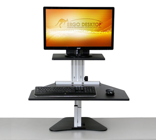 Ergo Desktop - Kangaroo Single Monitor Stand - MyErgoDesk.com