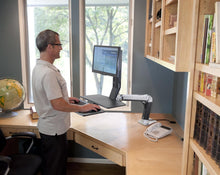 Load image into Gallery viewer, Ergotron - WorkFit-A, Sit-Stand Desk Mount System - MyErgoDesk.com