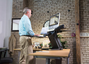 Health Postures - 6100 TaskMate Executive Standing Desk - MyErgoDesk.com
