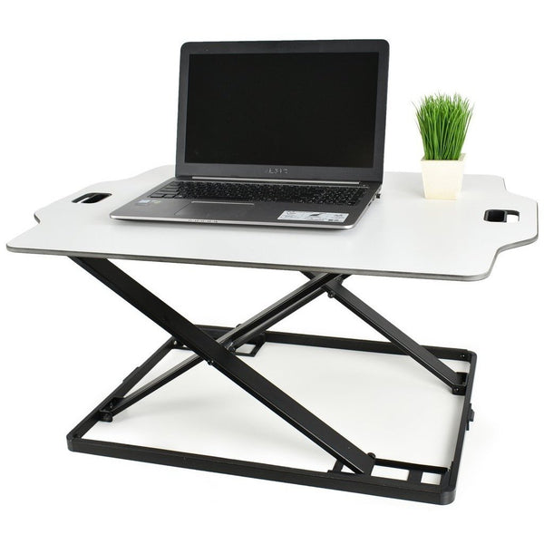 "VIVO - DESK-V000H White Height Adjustable Standing 32"" Desk Sit Stand Converter - myergodesk"