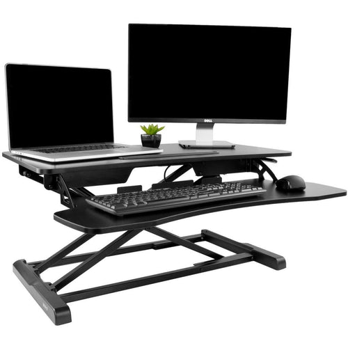 VIVO - DESK-V000K Height Adjustable Standing Desk Sit to Stand Gas Spring Riser Converter - MyErgoDesk.com
