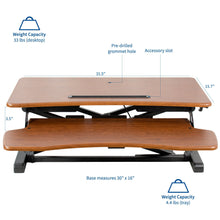 "Load image into Gallery viewer, Desk Converters - VIVO - DESK-V000KA 32"" Wood Standing Desk Riser"