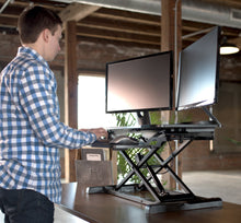 "Load image into Gallery viewer, Desk Converters - VIVO - DESK-V000KL  38"" Black Standing Desk Riser"