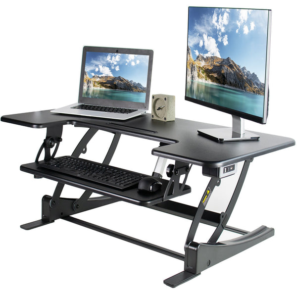 "VIVO - DESK-V000VLE  Large 42"" Electric Standing Desk Riser - myergodesk"