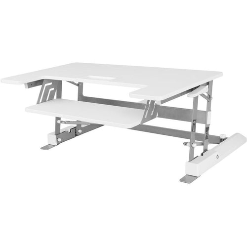 VIVO - DESK-V000W Height Adjustable Standing Desk Riser Gas Spring - MyErgoDesk.com