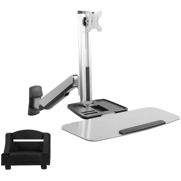 VIVO - STAND-SIT1W Single Monitor & Keyboard Counterbalance Sit-Stand Wall Mount - myergodesk