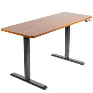 "Electric Adjustable Standing Desk - VIVO -  60"" X 24"" Electric Desk With Black Frame And Memory Pad"