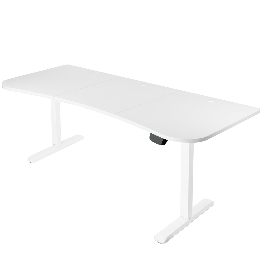 Electric Adjustable Standing Desk - VIVO - DESK-KIT-2E1W Electric Height Adjustable Workstation And 3 Section Table Top