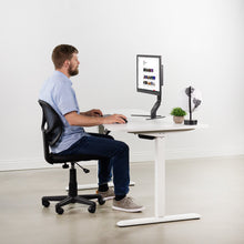 Load image into Gallery viewer, Electric Adjustable Standing Desk - VIVO - DESK-KIT-2E1W Electric Height Adjustable Workstation And 3 Section Table Top