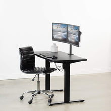 "Load image into Gallery viewer, Electric Adjustable Standing Desk - VIVO - DESK-KIT-B04B  43"" X 24"" Electric Desk With Black Frame"