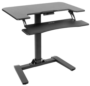 "VIVO - DESK-V111V  36"" Black Electric Height Adjustable Desk - MyErgoDesk.com"