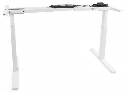 Electric Adjustable Standing Desk - VIVO - DESK-V120EW White Electric Dual Motor Desk Frame