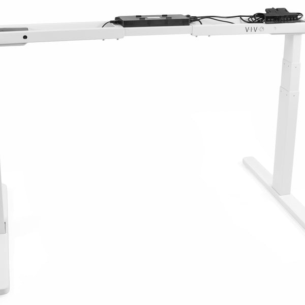 VIVO - DESK-V120EW White Electric Dual Motor Desk Frame - myergodesk