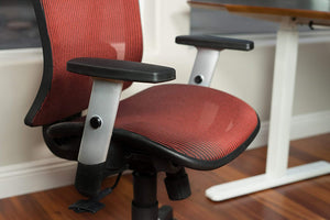 Ergonomic Chairs - Canary/ErgoMax - Meshed Ergonomic Height Adjustable Black Office Chair W/Armrests & Headrest