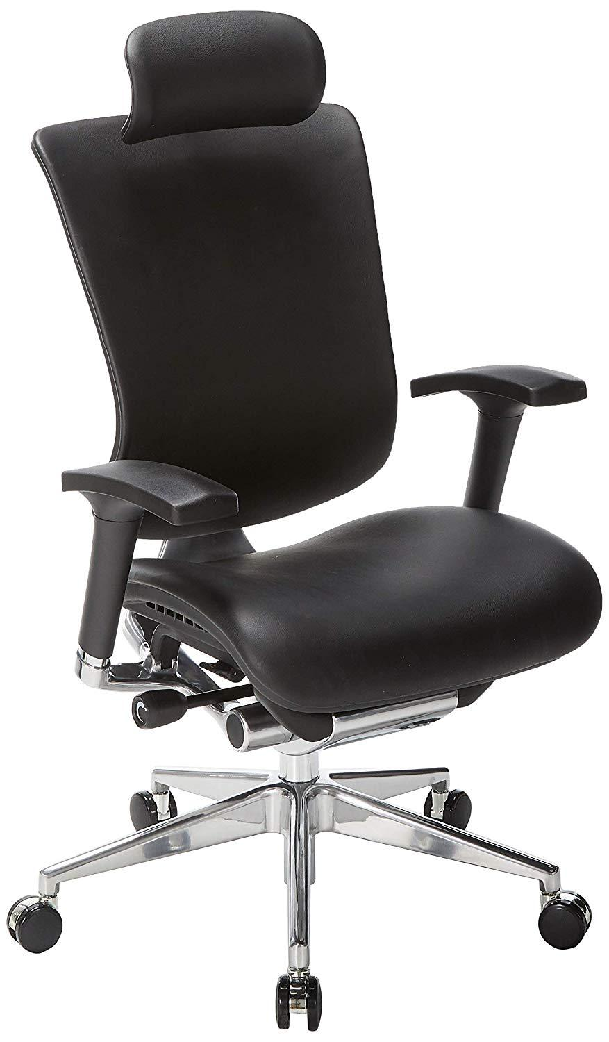 Ergonomic Chairs - GM Seating - Dreem  III Leather Series Executive Hi Swivel Chair Chrome Base With Headrest