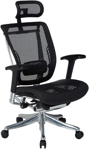 Ergonomic Chairs - GM Seating - Enklave XL Mesh Executive Hi Swivel Chair Chrome Base