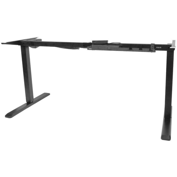 VIVO - DESK-V102E Black Electric Stand Up Desk Frame Workstation - myergodesk