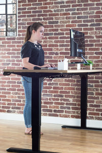 VIVO - DESK-V103E Electric Stand Up Desk Frame w/ Dual Motor and Cable Management Rack - myergodesk