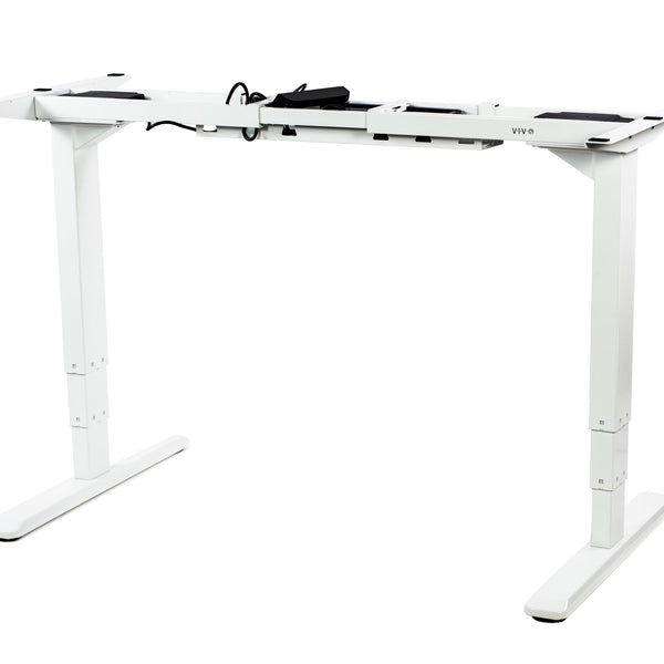 VIVO - DESK-V103EW White Electric Dual Motor Desk Frame - myergodesk