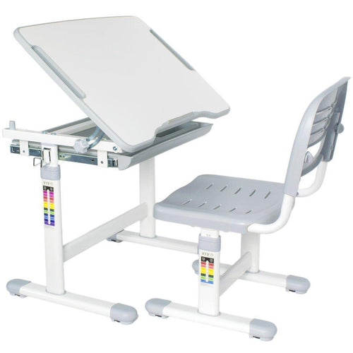 VIVO - DESK-V201G Kids Height Adjustable Desk & Chair,  Grey - MyErgoDesk.com