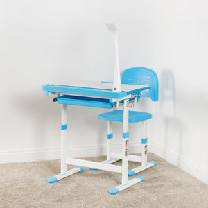 Student Height Adjustable Desk - VIVO - DESK-V303 Deluxe Height Adjustable Children's Desk & Chair