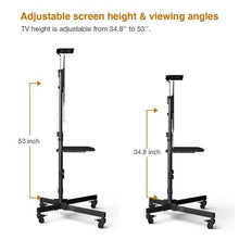 "Load image into Gallery viewer, LOCTEK - P3B MOBILE TV CART W/ DVD SHELF & CAMERA PLATE FOR 32""-65"" TVS - myergodesk"