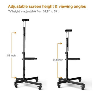 "LOCTEK - P3B MOBILE TV CART W/ DVD SHELF & CAMERA PLATE FOR 32""-65"" TVS - myergodesk"