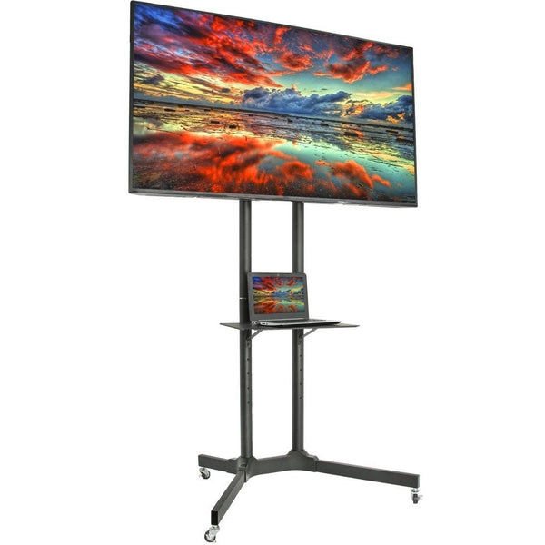 "VIVO - STAND-TV03E Mobile TV Cart for LCD LED Plasma Flat Panels Stand with Wheels Fits 32"" to 65"" - myergodesk"