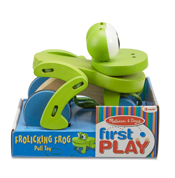 MD Frolicking Frog Pull Toy