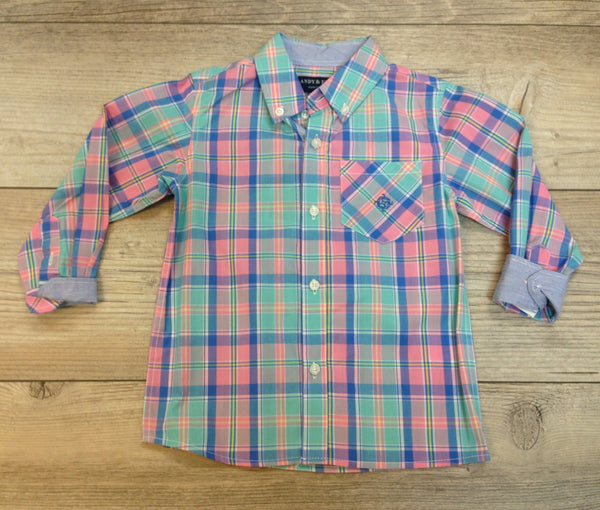 AE Easter Plaid Shirt