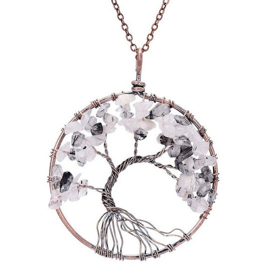 Chakras of life crystal tree pendants sacred mantra aloadofball Gallery