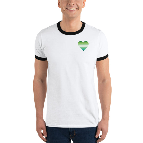 Gay Male Heart Ringer T-Shirt