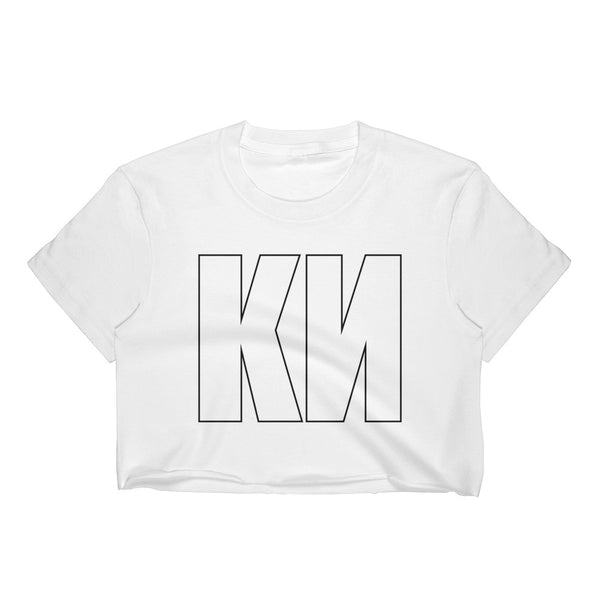 KN Cropped T-Shirt w/ Tear Away Label