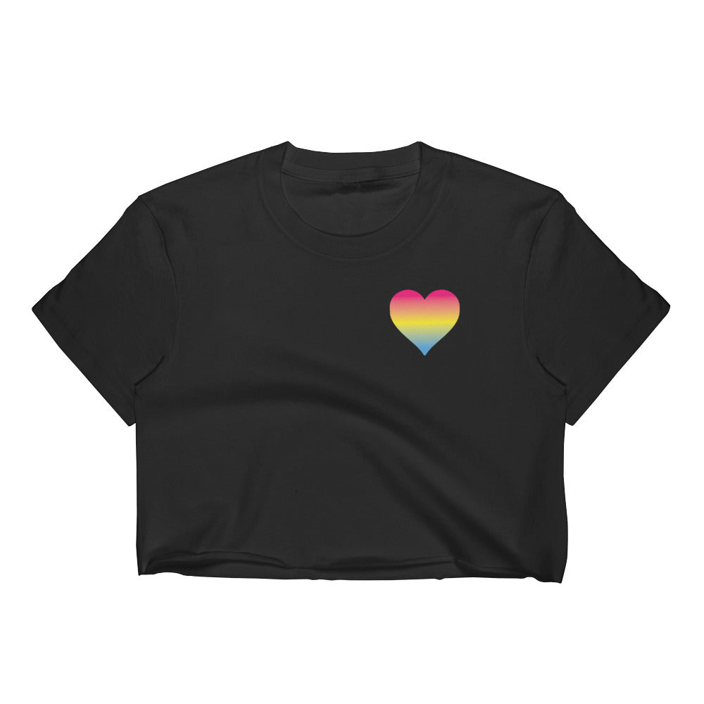 Pansexual Heart Women's Crop Top