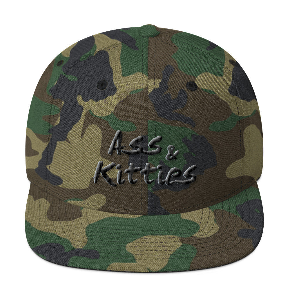Ass & Kitties Wool Blend Snapback