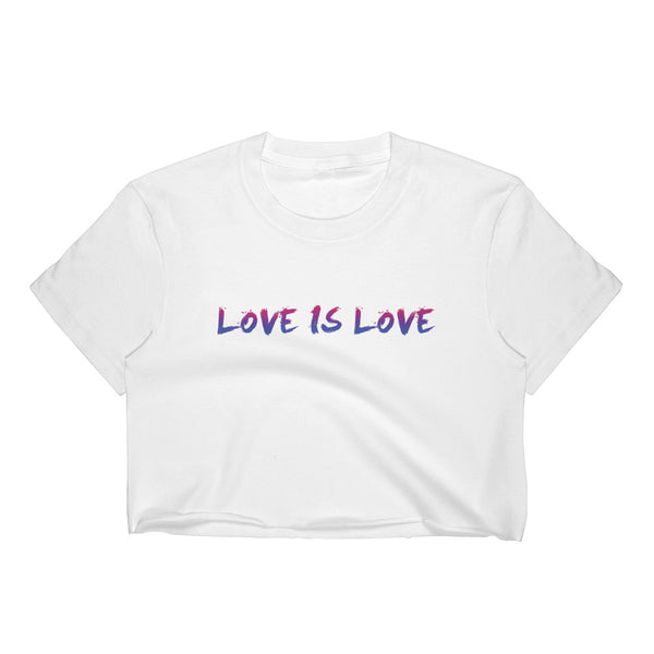 Love Cropped T-Shirt w/ Tear Away Label