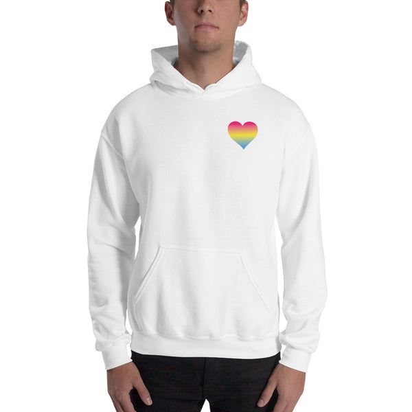 Pansexual Heart Hooded Sweatshirt