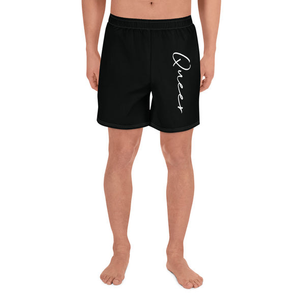 Queer All-Over Print Men's Athletic Long Shorts